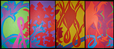 Valerie Gladwin Montgomery - 'Music Polyptych': Click for a larger image of this painting