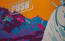 Valerie Gladwin Montgomery - 'Push': Click for a larger image of this painting